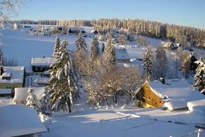 Tellerhäuser im Winter Blick Richtung Skihang Quelle: Fremdenverkehrsamt