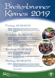 Plakat Breitenbrunner Kirmes 2019